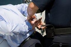 brotts- white för krage Arkivbilder