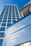 brottslig internationell name etikett för domstol Arkivbild