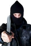 brottsligt knivbarn Royaltyfri Fotografi