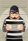brottslingen rånar skjutit royaltyfri illustrationer