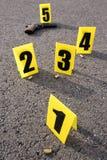 Brottsplats efter gunfight Fotografering för Bildbyråer