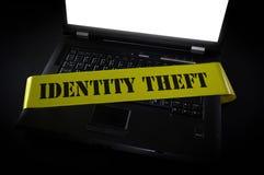 Brottsplats för dator för identitetsstöld royaltyfria foton
