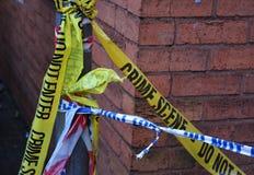 Brottsplats- och polisband fotografering för bildbyråer