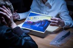 Brottsplatsvisualization Fotografering för Bildbyråer