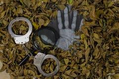 Brottsutredning avtäcker fall royaltyfri fotografi