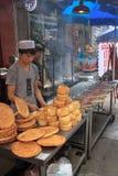 Brotverkäufer in Xi'an Stockbilder