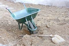 Brouette sur le sable Photographie stock