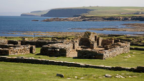Brough of Birsay. Ruins at the Brough of Birsay, a Norse (Viking) settlement on the mainland of Orkney, Scotland Stock Photos