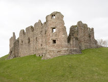 Brough Castle. The ruins of Brough Castle in Yorkshire, England royalty free stock photo