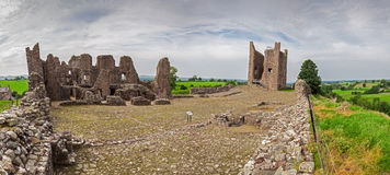 Brough Castle Panorama Stock Image