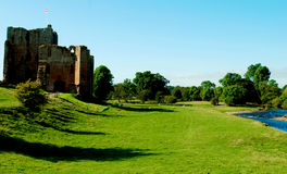 Brougham Castle. Is a medieval building about 2 miles south-east of Penrith, Cumbria, England. The castle was founded by Robert de Vieuxpont in the early 13th Stock Photos