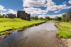 Brougham Castle. On the banks of the River Eamont Stock Photo