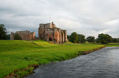 Brougham Castle near penrith. The picturesque Brougham Castle an ancient 13th century fortification next to the river eamont and near Penrith in Cumbria Stock Image