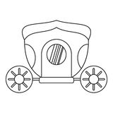 Brougham icon, outline style Royalty Free Stock Photography
