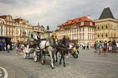 Brougham w Praga cesky krumlov republiki czech miasta średniowieczny stary widok zdjęcie stock
