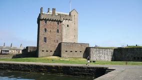 Музей замка Broughty, Данди, Шотландия, Великобритания видеоматериал