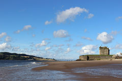 Broughty Castle, Broughty Ferry, Dundee, Scotland. View of Broughty Castle at Broughty Ferry, Dundee, Scotland. The historic castle stands on the banks of the Royalty Free Stock Photo