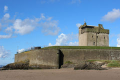 Broughty Castle, Broughty Ferry, Dundee, Scotland. View of Broughty Castle at Broughty Ferry, Dundee, Scotland. The historic castle stands on the banks of the Royalty Free Stock Image