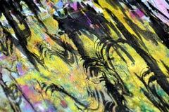Brouillé éclabousse, des couleurs cireuses vives colorées, fond créatif de contrastes photo libre de droits