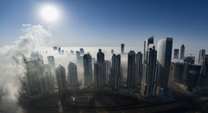 Brouillard à Dubaï Photo stock