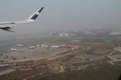 Brouillard au-dessus d'aéroport international de Mumbai Photo libre de droits
