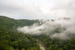 Brouillard au-dessus de grand South Fork Photo stock