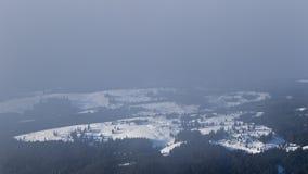 Brouillard au-dessus de la vallée Photographie stock libre de droits