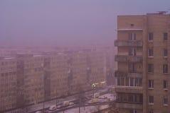 Brouillard au-dessus des quarts de sommeil Photographie stock
