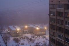 Brouillard au-dessus des quarts de sommeil Image stock
