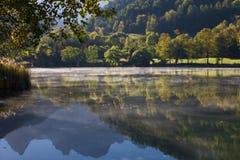 Brouillard chez Le Lauzet Ubaye_2 photographie stock libre de droits