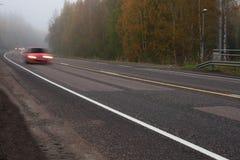 Brouillard dangereux Images stock
