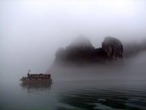 Brouillard dans Halong Photo libre de droits