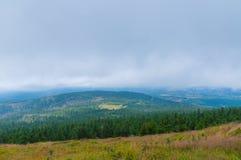 Brouillard dans Harz, Allemagne Photographie stock libre de droits