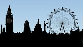Brouillard dans la ville de Londres Photo libre de droits