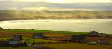 Brouillard dans le compartiment Photographie stock