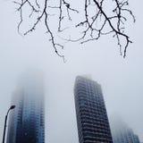 Brouillard de bâtiment Photographie stock