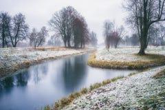 Brouillard de décembre Image stock
