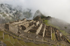 Brouillard de Machu Picchu Photo libre de droits