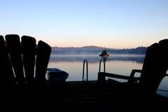 Brouillard de matin Photographie stock