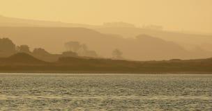 Brouillard de matin au point Reyes Images stock