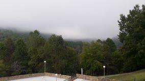 Brouillard de matin près de lac Buckhorn Photographie stock