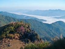 Brouillard de montagne photo libre de droits