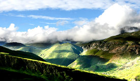 Brouillard de montagne de Dieu photos stock