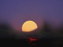 Brouillard de soirée Photographie stock libre de droits