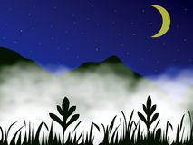 Brouillard en montagne Photographie stock libre de droits