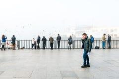 Brouillard enfumé à Istanbul, Turquie Photographie stock