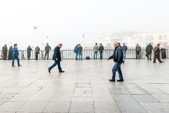 Brouillard enfumé à Istanbul, Turquie Images stock