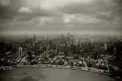 Brouillard enfumé dans la ville Photo stock