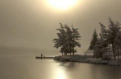 Brouillard et glace Photos stock