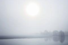 Brouillard et inondation Photo libre de droits